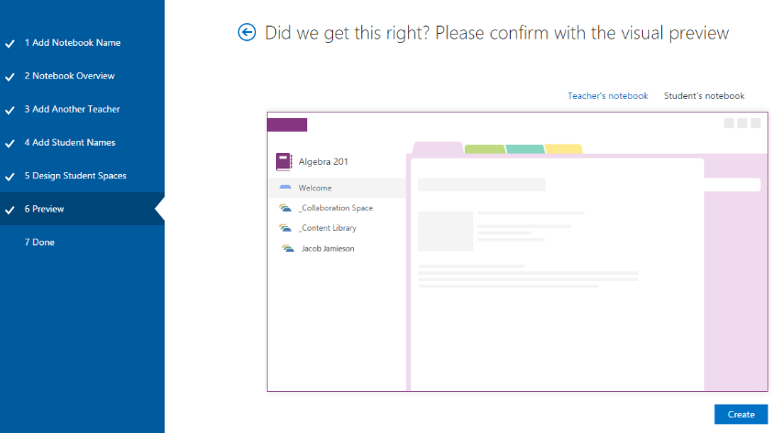 Creating a Class OneNote