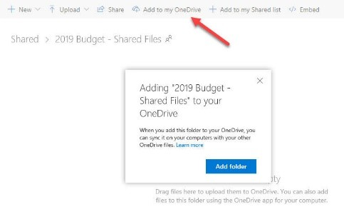 Create a shared folder for your teammates