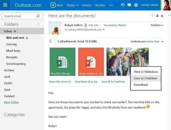 Save Email Attachments Directly to OneDrive