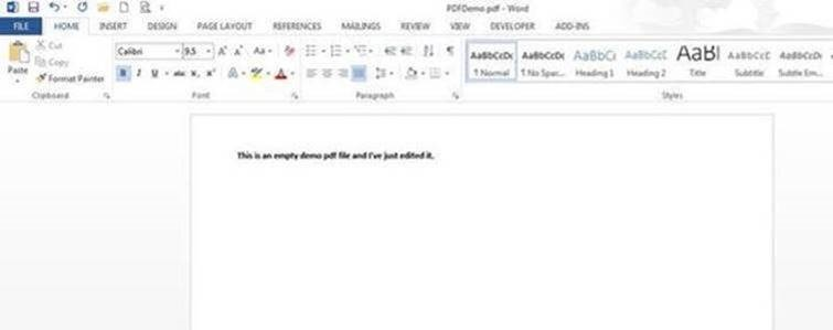 Editing PDF with WORD